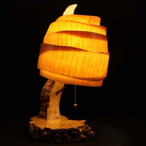 Wood Lamp with Veneer shade