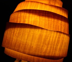 Maple veneer lamp shade